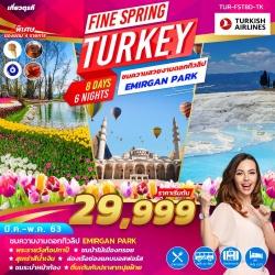 ทัวร์ตุรกี อิสตันบูล คัปปาโดเกีย ปามุคคาเล่ FINE SPRING TURKEY 8 วัน 6 คืน